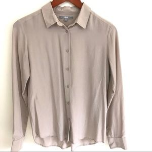 Uniqlo long sleeve basic shirt, EUC